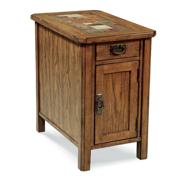 Arrandale End Table With Storage By World Menagerie