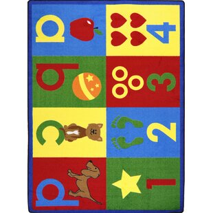 Order Hand-Tufled Red/Yellow Kids Rug By The Conestoga Trading Co.