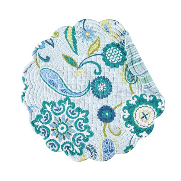 Alena Reversible Round Quilt Placemat (Set of 6) by C&F Home