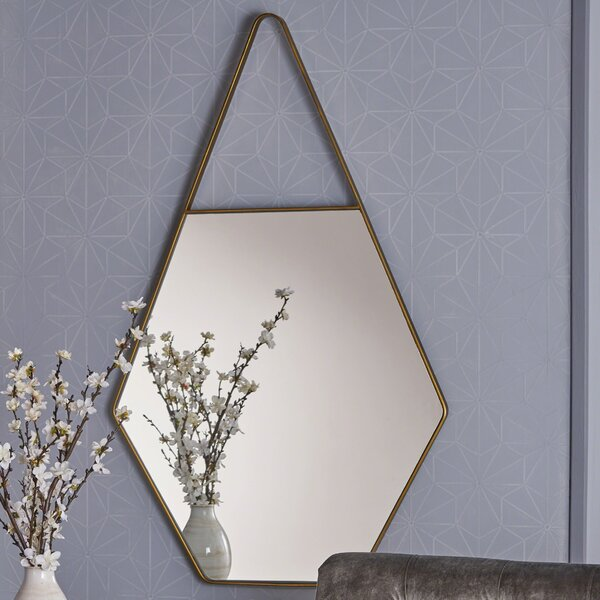 Diggins Hexagonal Accent Mirror by George Oliver