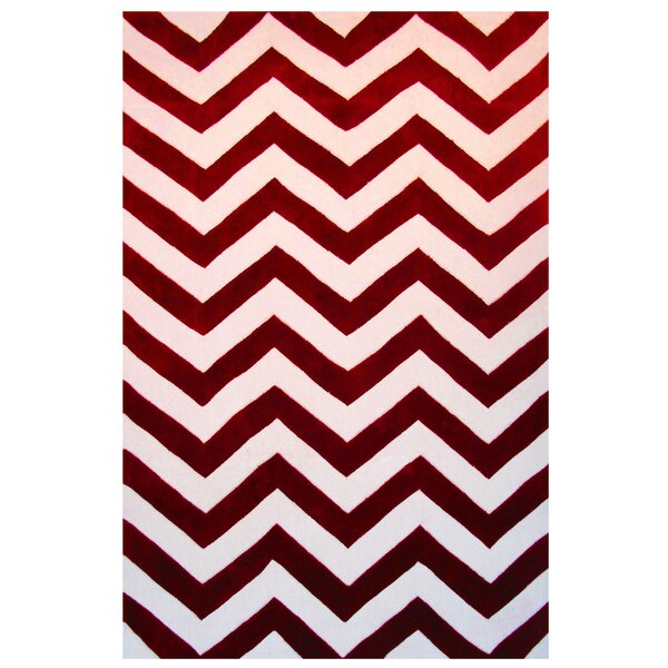Capri Red/White Area Rug by L.A. Rugs