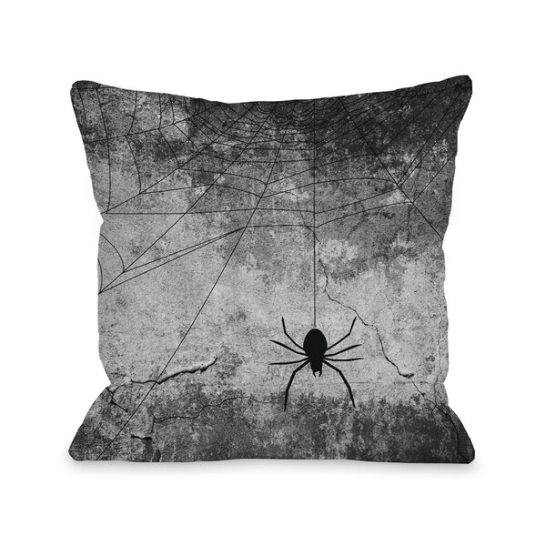 Hanging Spider Throw Pillow by One Bella Casa