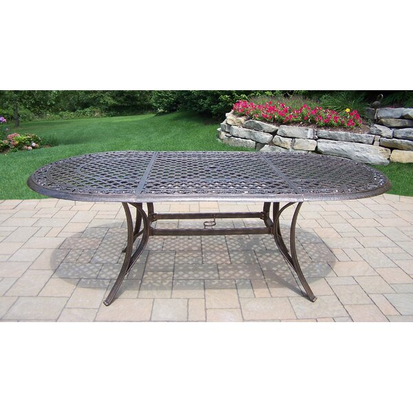 Mississippi Oval Aluminum Dining Table by Oakland Living
