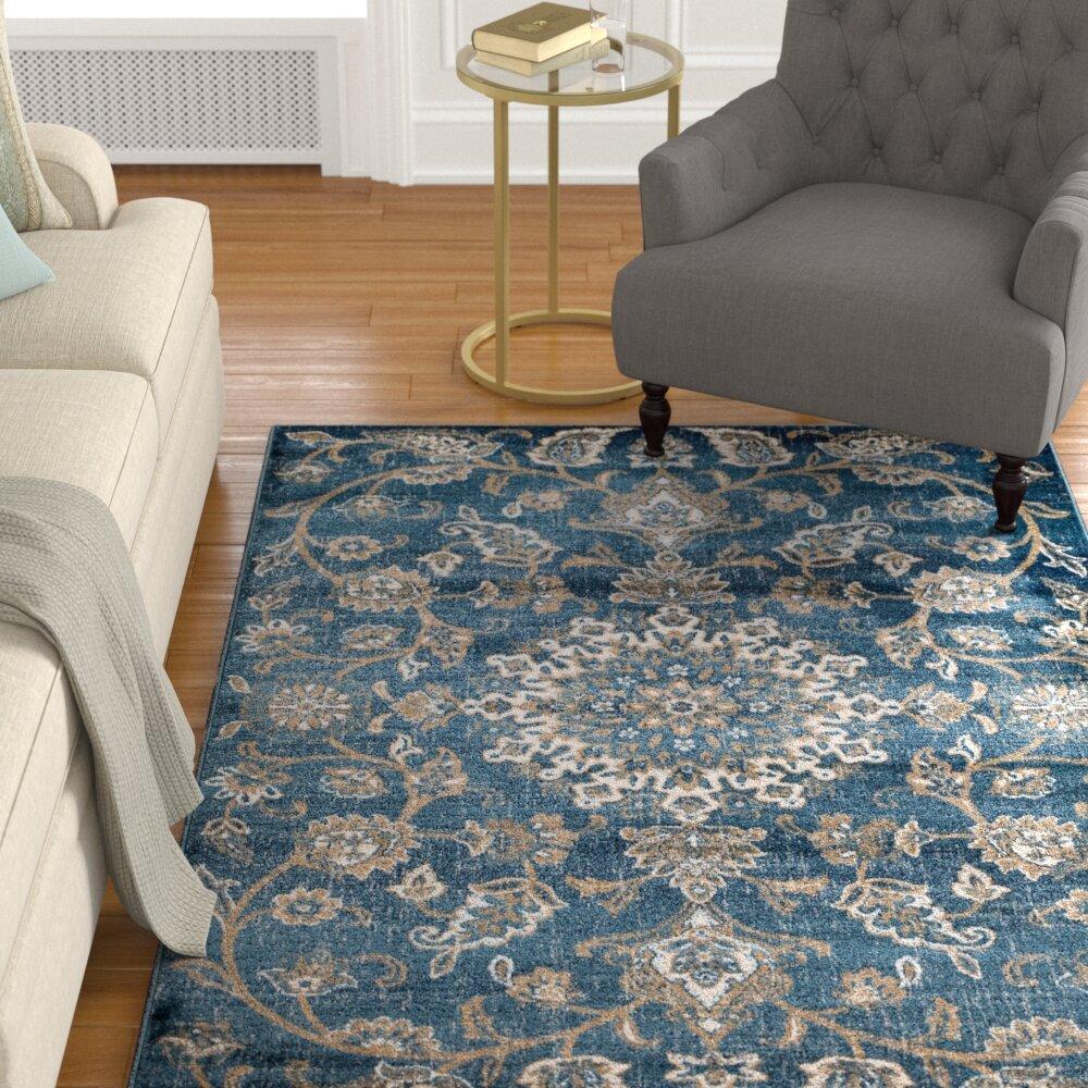 Lifa Living Aqua Vintage Rugs For Living Room 160 X 230 Cm Blue
