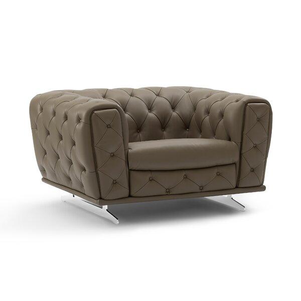 Bloomsburg Leather Armchair By Orren Ellis