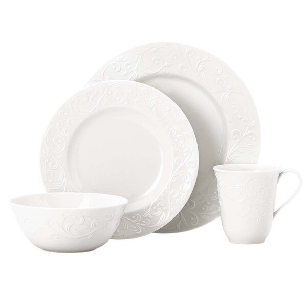 Opal Innocence Carved 4 Piece Place Setting, Service for 1 by Lenox