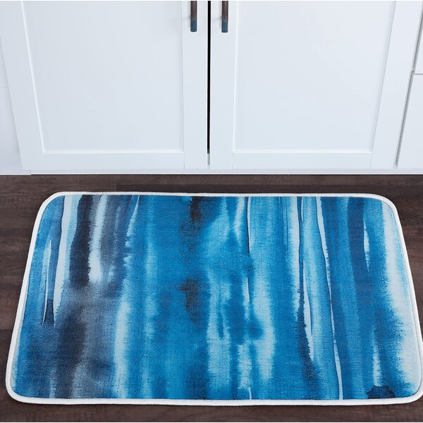 Knepp Watercolor Foam Core Bath Rug by Zipcode Design