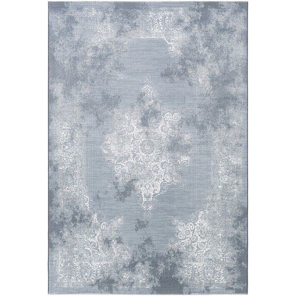 Jayson White/Blue Area Rug by Ophelia & Co.