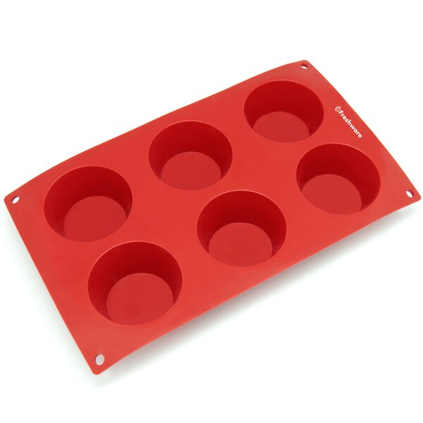 6 Cavity Silicone Mold Pan by Freshware
