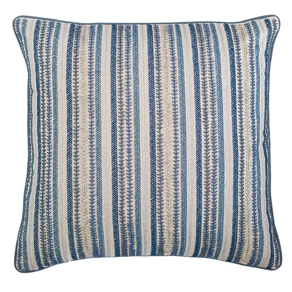 Ink Stripes Cotton Throw Pillow by Elisabeth York
