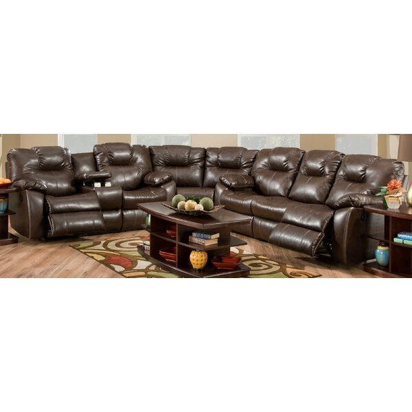 #1 Avalon Leather Reclining Sectional By Southern Motion Cheap