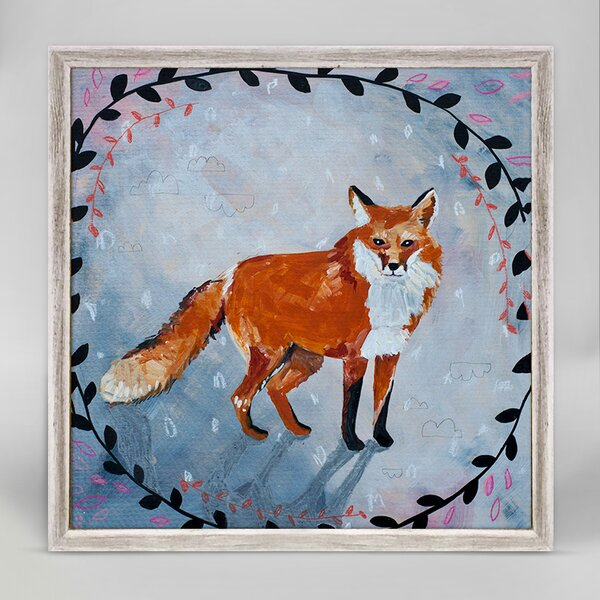 Painted Animals - Fox by Jessica Swift Mini Canvas Framed Art by Oopsy Daisy