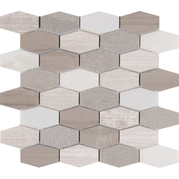 Bellagio Blend Elongated Marble Mosaic Tile in Gray by MSI