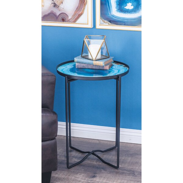 Metal/Glass End Table by Cole & Grey Cole & Grey