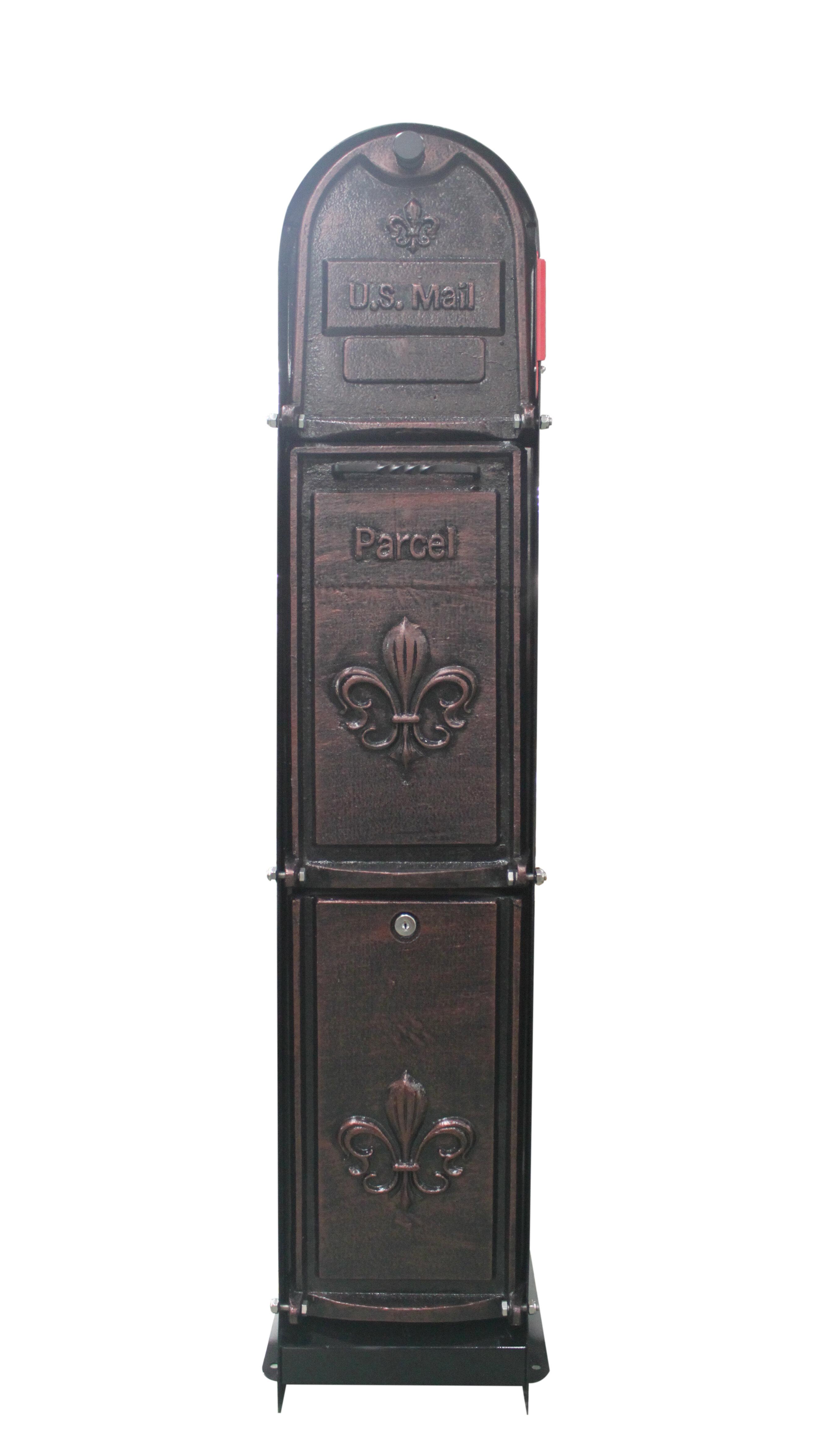 Fleur De Lis Locking Column Box
