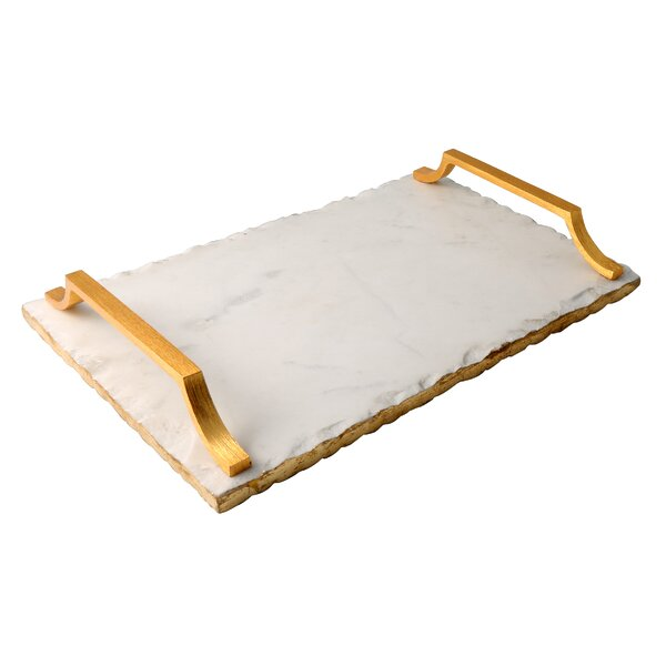 Old Hollywood Marble Serving Tray by Thirstystone