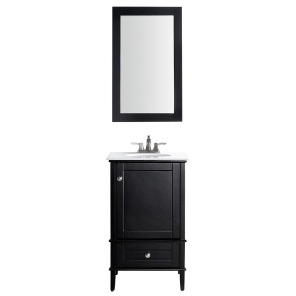 Peckham 21 Single Bathroom Vanity Set with Mirror by Latitude Run