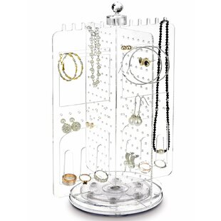 Acrylic Rotating Earring Holder Jewelry Stand