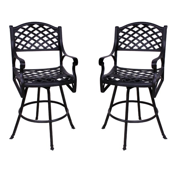Amelio Patio Bar Stool (Set of 2) by Darby Home Co