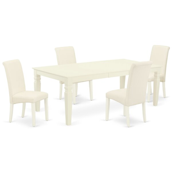 Galata 5 Piece Extendable Solid Wood Dining Set by Winston Porter Winston Porter