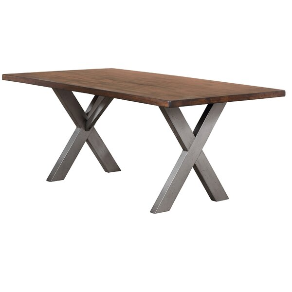 Natick Base Solid Wood Dining Table by Union Rustic