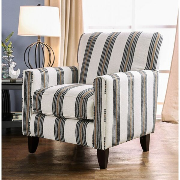Pearson Stripe Armchair by Canora Grey