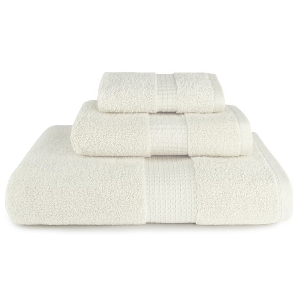 Nara 3 Piece Cotton Towel Set by Highland Dunes