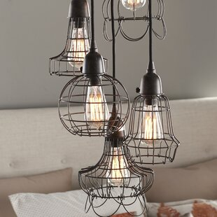 Bon Huang Wire 5 Light Pendant