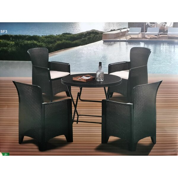 6 Piece Rattan Complete Patio Set with Cushions by Latitude Run