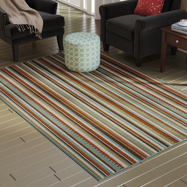 Brendel Green/Blue Indoor/Outdoor Area Rug by Andover Mills