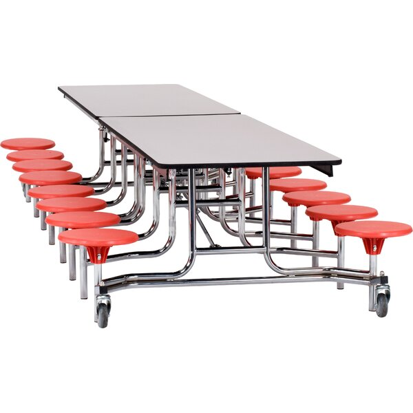145 x 59 Laminate Rectangular Cafeteria Table by National Public Seating