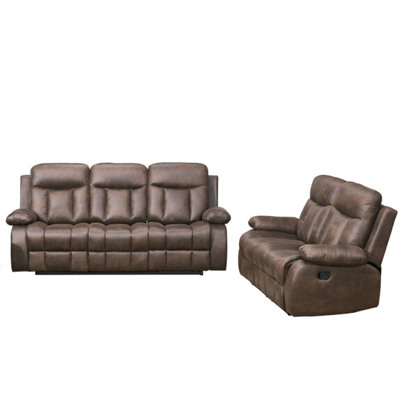 Woodlake 2 Piece Reclining Living Room Set by Red Barrel Studio Red Barrel Studio