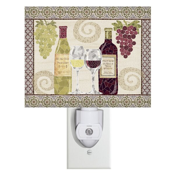 Wine Mosaic Canvas Night Light by Evergreen Enterprises, Inc