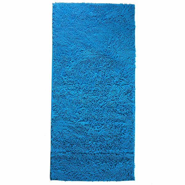 Resera High Pile Shag Blue Area Rug by Ebern Designs