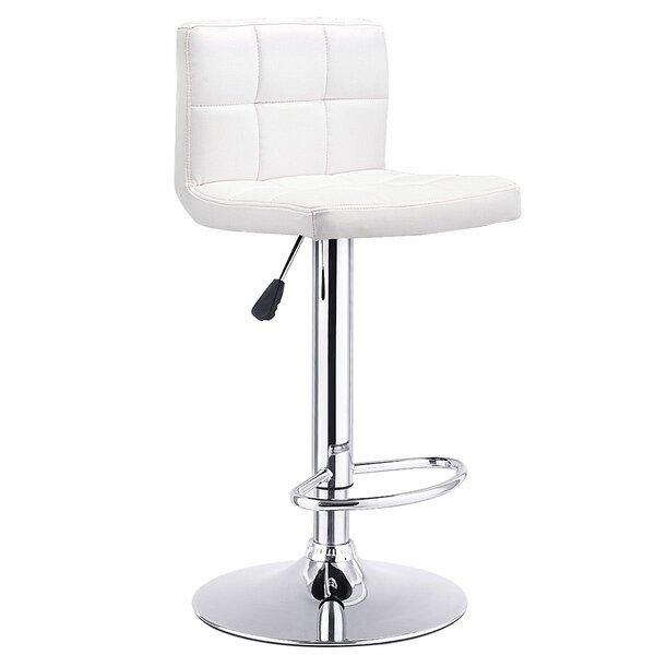 Jamir Adjustable Height Swivel Bar Stool by Ebern Designs