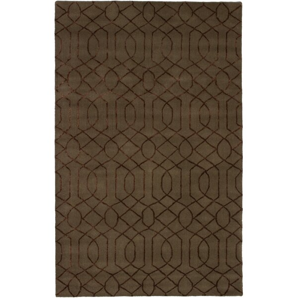Hardaway Hand-Tufted Brown Area Rug by Ivy Bronx