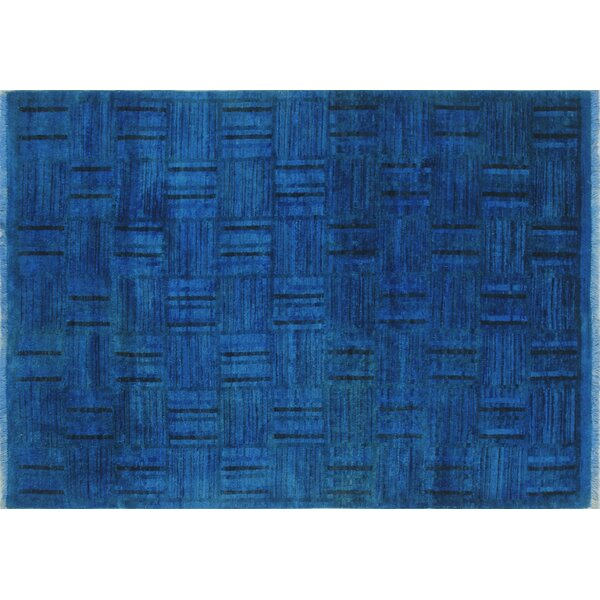 One-of-a-Kind Overdyed Muizz Hand-Knotted Blue Area Rug by Noori Rug