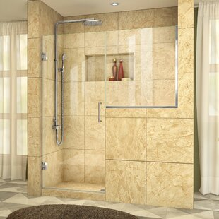 Reviews Unidoor Plus 59.5 x 72 Hinged Frameless Shower Door with Clearmax™ Technology By DreamLine