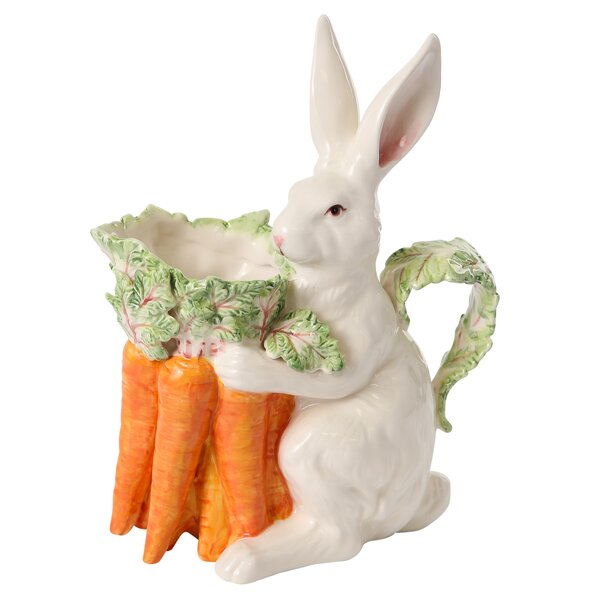 French Garden Lapin Pitcher by Kaldun & Bogle