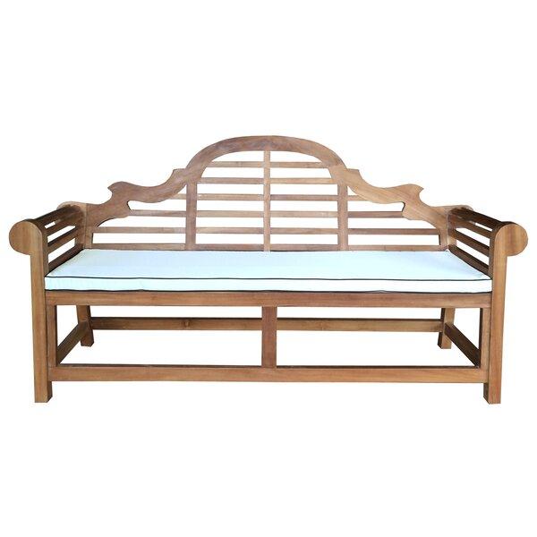 Passarelli Teak Garden Bench with Cushion by Bloomsbury Market