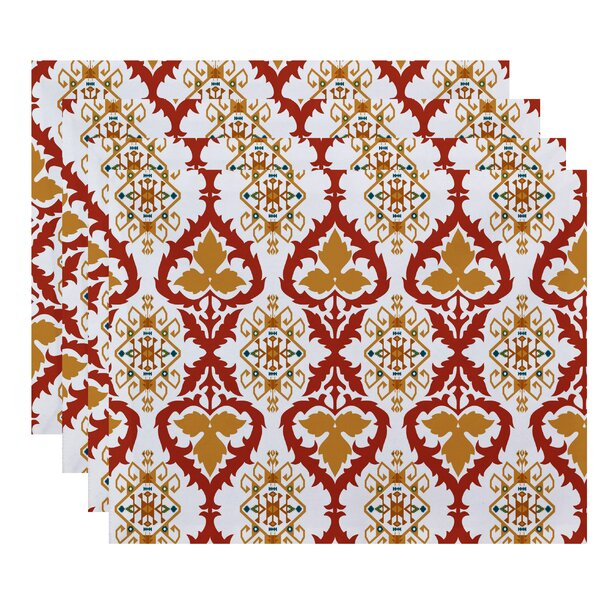 Sabrina Geometric Print Placemat (Set of 4) by Bungalow Rose