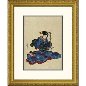 'Shamisen I' by Utagawa Toyokuni Framed Graphic Art by Global Gallery