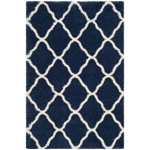 Buford Navy/Ivory Area Rug by Charlton Home