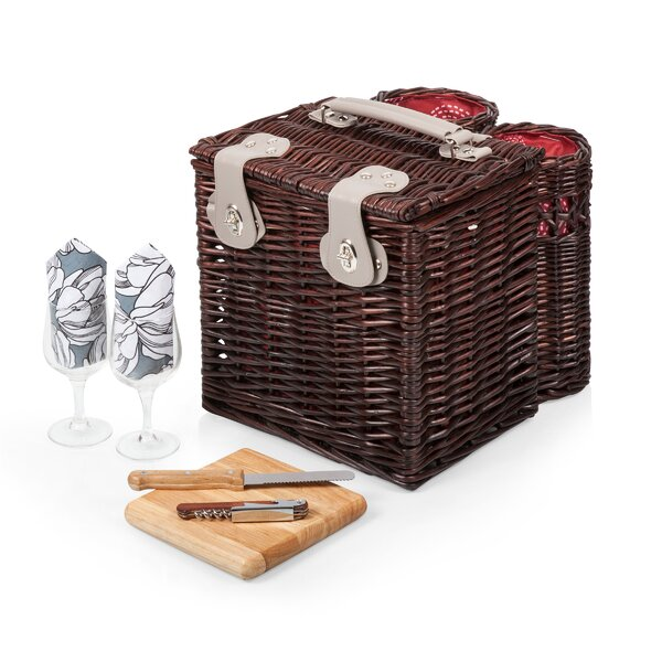 Vino Wine and Cheese Picnic Basket by Highland Dunes