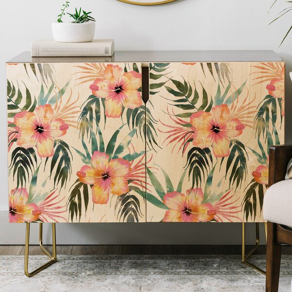 Schatzi Honolua Tropical Credenza by East Urban Home East Urban Home