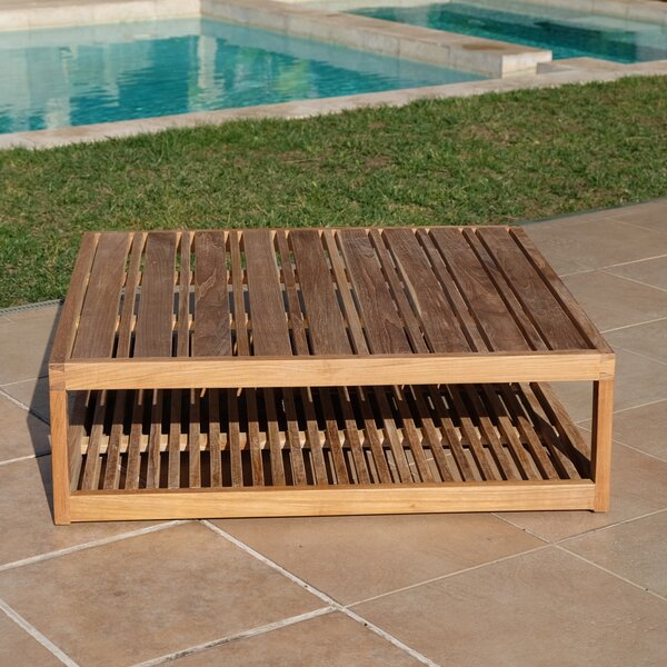 Zahn Teak Chat Table by Rosecliff Heights