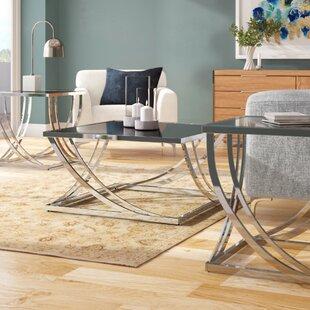 Lucio 3 Piece Coffee Table Set by Wade Logan