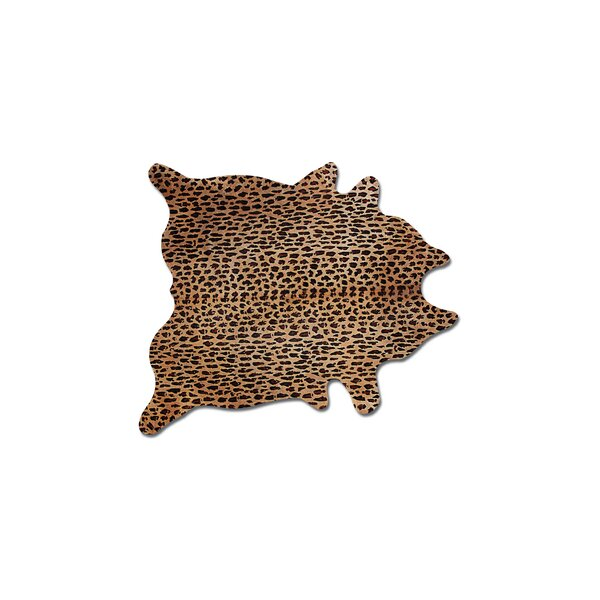 Grady Hand-Woven Cowhide Brown/Black/Red Area Rug by Bloomsbury Market
