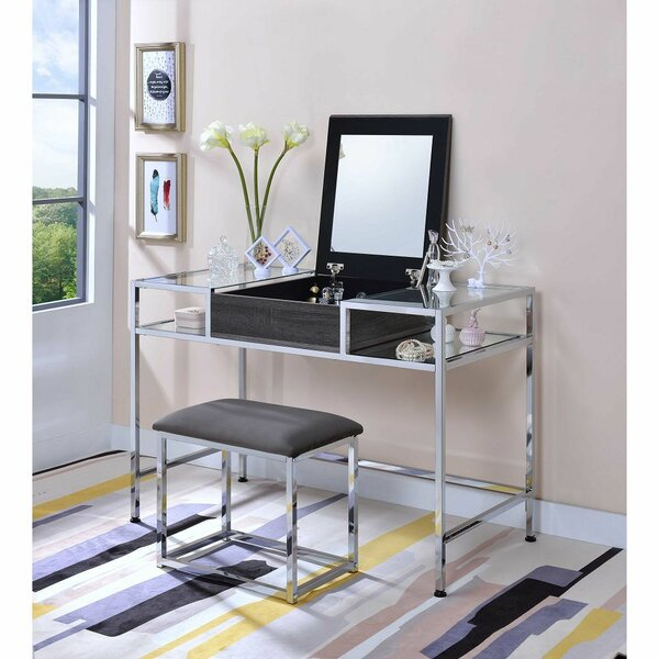 Cullivan Vanity Set with Mirror by Orren Ellis