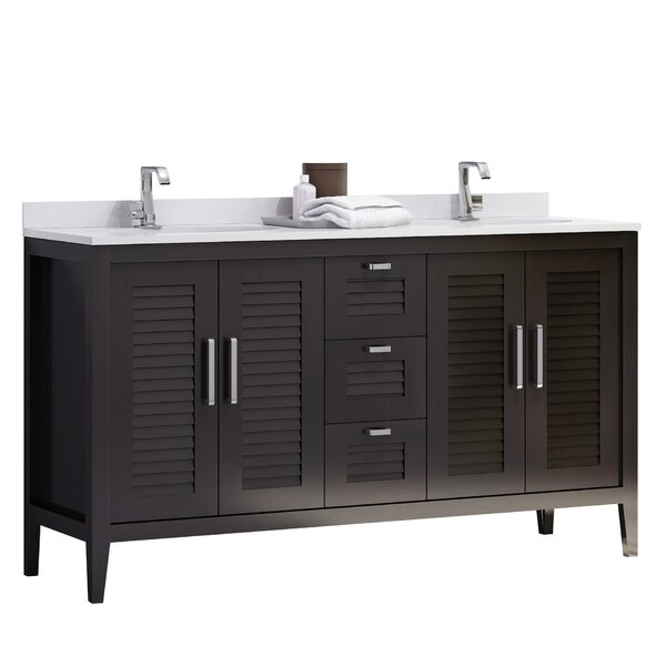 Madrid 60 Double Sink Master Bathroom Vanity Set by Hispania Home